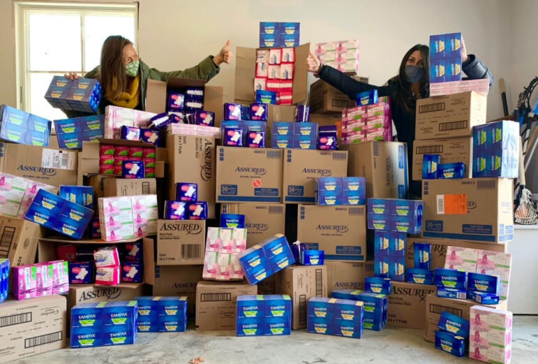 Pitch Your Peers Board Members Come through with Quantities of Feminine Hygiene Products for Neighbor to Neighbor